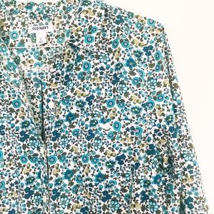Old Navy colorful Floral Print Button Down Shirt